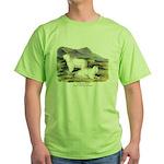 Audubon Mountain Goat Animal (Front) Green T-Shirt