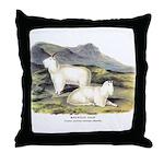 Audubon Mountain Goat Animal Throw Pillow