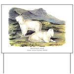 Audubon Mountain Goat Animal Yard Sign