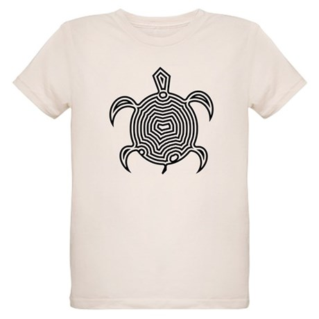 Labyrinth Turtle Organic Kids T-Shirt