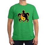 Gold Yin Yang Turtle Men's Fitted T-Shirt (dark)