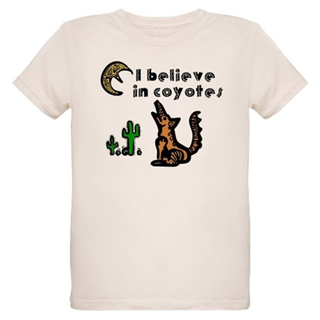 Believe in Coyotes Organic Kids T-Shirt