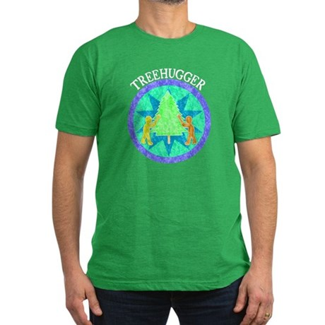 Tree Hugger Men's Fitted T-Shirt (dark)