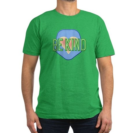 Be Kind Patch Men's Fitted T-Shirt (dark)