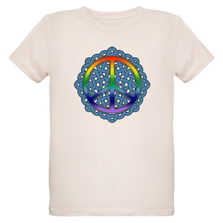 Celtic Knot Peace Symbol Organic Kids T-Shirt