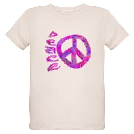 Pink Peace Organic Kids T-Shirt