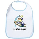 I Know Karate Bib