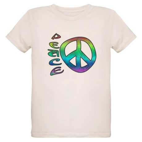 Rainbow Peace Organic Kids T-Shirt