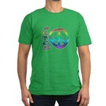 Rainbow Peace Men's Fitted T-Shirt (dark)