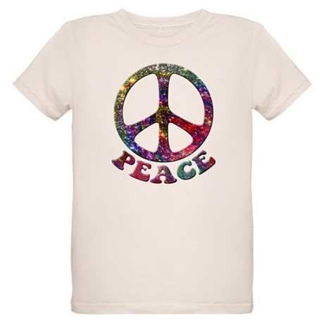 Jewelled Peace Symbol Organic Kids T-Shirt