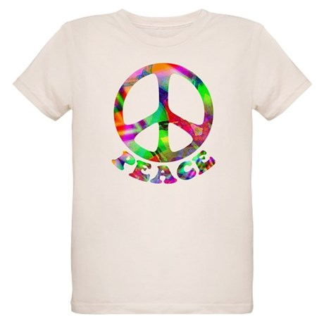 Pattern Peace Symbol Organic Kids T-Shirt