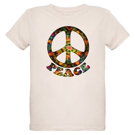 Painted Peace Symbol Organic Kids T-Shirt