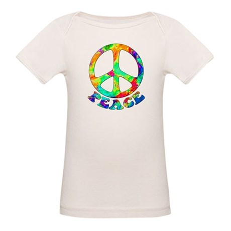 Rainbow Pool Peace Symbol Organic Baby T-Shirt