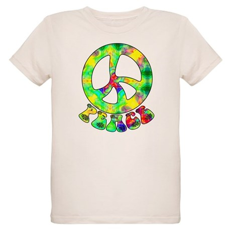 Flower Child Peace Organic Kids T-Shirt