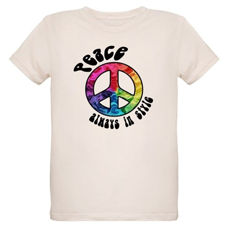 Peace Always in Style Organic Kids T-Shirt