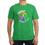Peace Always in Style Men's Fitted T-Shirt (dark)