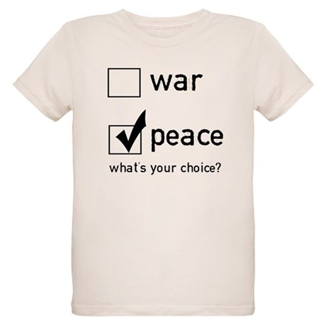 Choose Peace Organic Kids T-Shirt