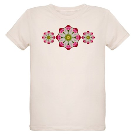 White Flower Organic Kids T-Shirt