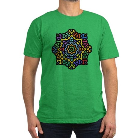 Colorful Knotwork Men's Fitted T-Shirt (dark)