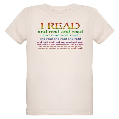 I Read Organic Kids T-Shirt