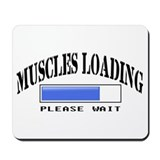 Muscles loading Mousepad