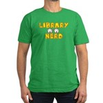 Library Nerd Men's Fitted T-Shirt (dark)