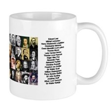 Famous Poets Small Mug