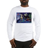 SALUKI xmas art design Long Sleeve T-Shirt