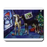 SALUKI xmas art design Mousepad