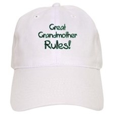 Great Grandmother Rules! Baseball Cap