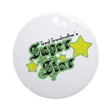 Great Grandmother's Super Star Ornament (Round)