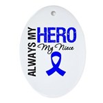 AlwaysMyHero Niece Oval Ornament