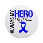 AlwaysMyHero Niece Ornament (Round)
