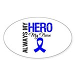 AlwaysMyHero Niece Oval Sticker