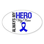 AlwaysMyHero Niece Oval Sticker (50 pk)