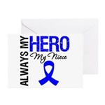 AlwaysMyHero Niece Greeting Cards (Pk of 10)