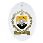 BERNIER Family Crest Oval Ornament
