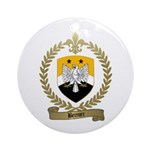 BERNIER Family Crest Ornament (Round)