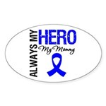 AlwaysMyHero Mommy Oval Sticker (10 pk)