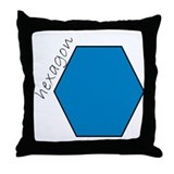 turquoise hexagon Throw Pillow