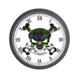 Forbes Tartan Skull Wall Clock