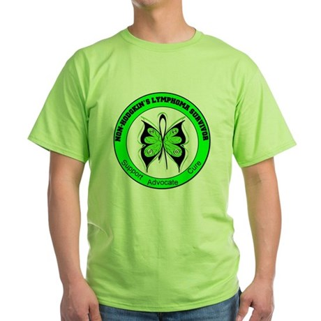 Non-Hodgkin's Survivor Green T-Shirt