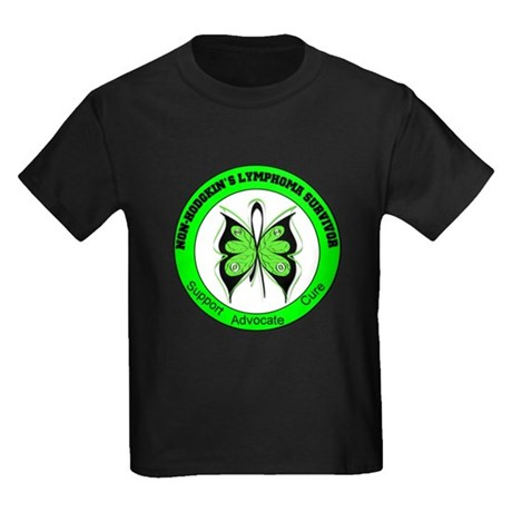 Non-Hodgkin's Survivor Kids Dark T-Shirt