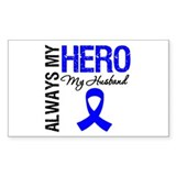 AlwaysMyHero Husband Rectangle Sticker 50 pk)