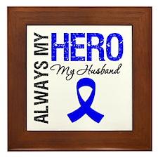 AlwaysMyHero Husband Framed Tile