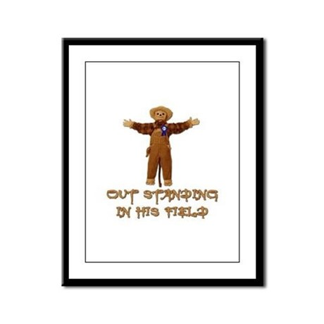 Out Standing In His Field Framed Panel Print