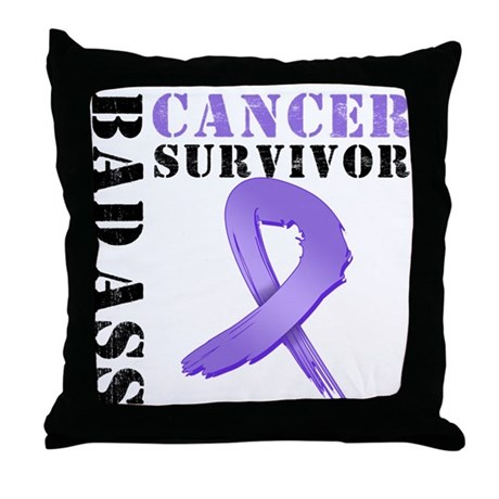 HodgkinsBad AssSurvivor Throw Pillow