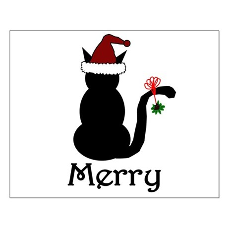 Merry Christmas Cat Small Poster