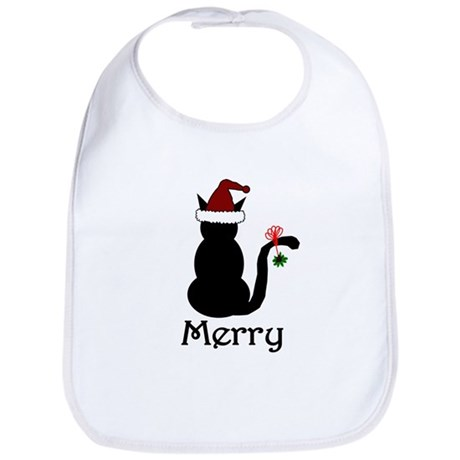 Merry Christmas Cat Bib