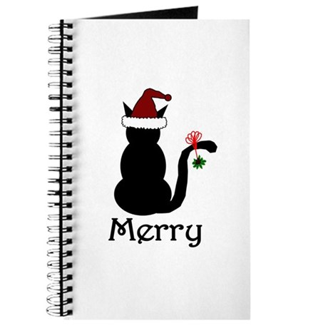 Merry Christmas Cat Journal